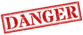 danger stamp. danger square grunge sign. danger