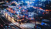 SEOUL, SOUTH KOREA, OCT 10 2018:Bus station