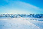 Winter landscape from Sotkamo, Finland.