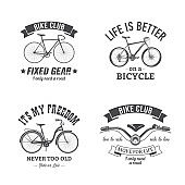 vector bicycle emblem