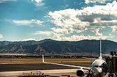 bozeman montana airport and rocky mountains