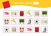 Memory game for preschool children