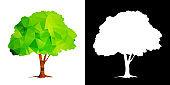 Polygonal tree isolated vector