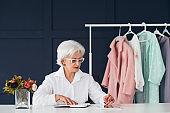 fashion style assistance woman senior business