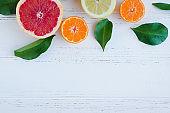 Mixed citrus background