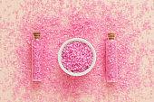 skin body care relaxation organic pink bath salt