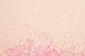 spa therapy pink bath salt peach background