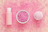 organic spa cosmetic products bath salt bomb