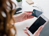 payment online banking smartphone credit card safe