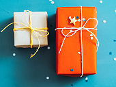 romantic winter holidays gift boxes star glitter