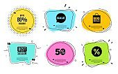 Up to 80% Discount. Sale offer price sign. Vector