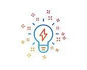 Inspiration line icon. Creativity light bulb sign. Vector