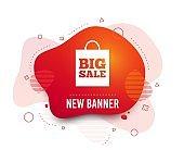 Big sale bag sign icon. Special offer symbol. Vector