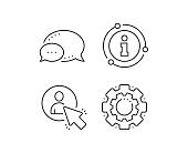 Select user line icon. Business management sign. Vector