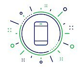 Smartphone icon. Cellphone or Phone sign. Vector