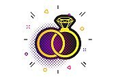 Wedding rings sign icon. Engagement symbol. Vector