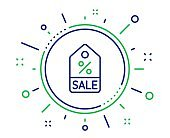 Shopping tag line icon. Special offer sign. Vector