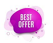 Best offer. Special price sale sign. Vector