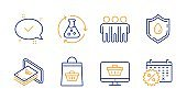 Friendship, Cash and Blood donation icons set. Web shop, Chemistry experiment and Approved signs. Vector