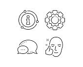 Healthy face skin line icon. Good care sign. Vector