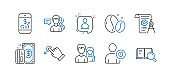 Set of Business icons, such as Payment, Developers chat, Drag drop. Vector