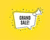 Grand sale symbol. Special offer price sign. Vector