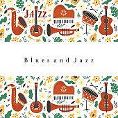 Jazz festival banner template