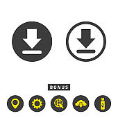 Download icon on white background.