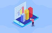 Mobile online data financial management