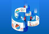 Work data management and financial financial statistics analysis