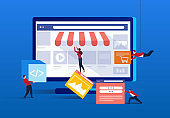 Internet commerce trade shop construction