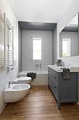 interior shots of a modern bathroom