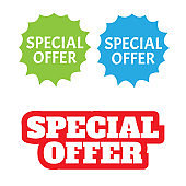 Tag special offer, grunge style. Sticker or discount label