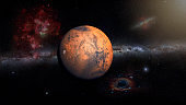 Mars Planet in the outer space