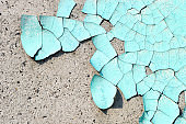 Peeling paint on wall blue grunge material texture