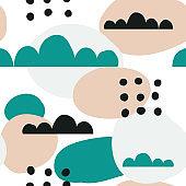 Trendy creative seamless pattern