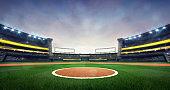 grand baseball stadium field spot daylight view