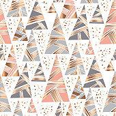 Hand drawn triangle Christmas tree pattern