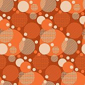 Fun dotted circles seamless pattern for background