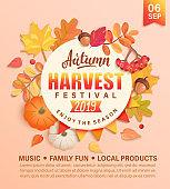 Invitation to autumn Harvest Festival.
