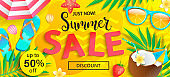 Summer sale, just now discount banner.