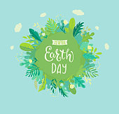 Banner for Earth Day for environment safety celebration.