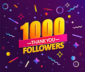 Thank you 1000 followers, thanks banner.