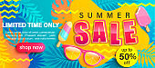 Summer Sale bright poster.