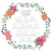 modern 2020 geometric new year calendar layout design