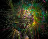 abstract digital fractal, beautiful design