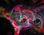 abstract digital fractal, fantasy design shiny, flame, flow