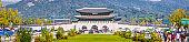 Seoul Gwanghwamun Gate of Gyeongbokgung Palace Gwanghwamun Plaza panorama Korea