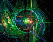 abstract digital fractal fantasy design