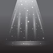 Abstract shining clear space for your product with stars and sparkles